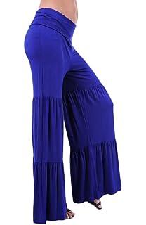 Toyobuy Pantalon à Fleur Femme Larges Jambes Ample pour Plage Yoga ... b16db539143f