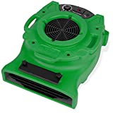 B-Air VENTLO-25 1/4 HP Low Profile Air Mover Carpet Dryer Floor Fan for Home Retail Plumbing Water Damage Restoration Green (BA-VLO-25-GN)