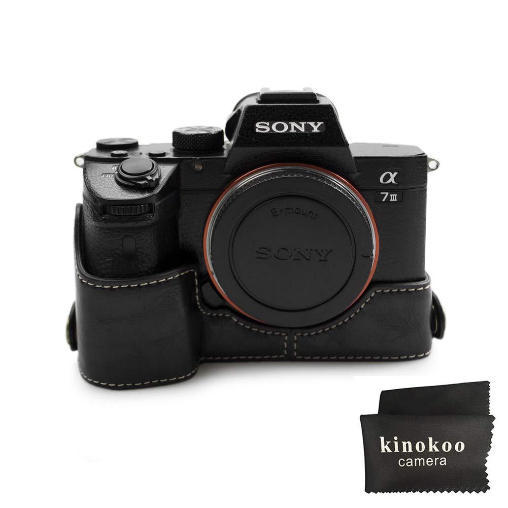kinokooカメラケース互換for Sony a9アルファ7r3 a7r3 a7iii ( black-b / withフラッパー)   B0793KNCTC