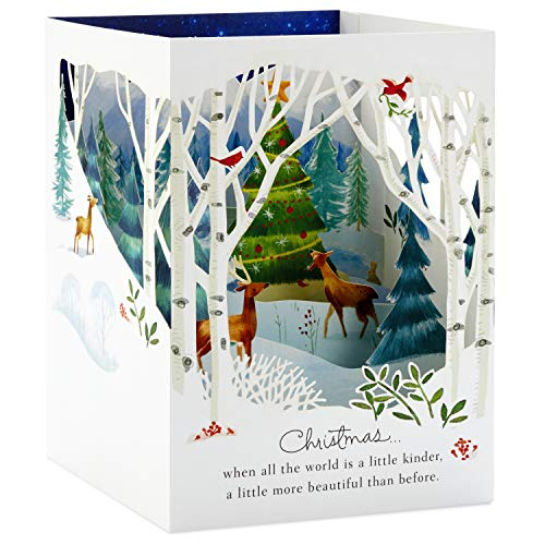 Hallmark Paper Wonder Pop Up Holiday Card (Woodland Animals Pop Up) Photo #9