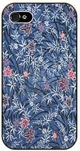 LJF phone case Vintage purple pattern - iPhone 5C black plastic case / Flowers and Nature, floral, flower