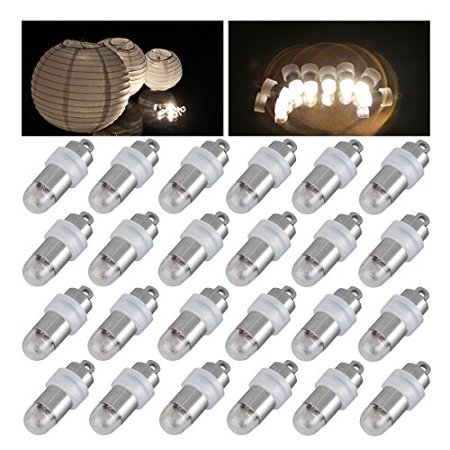 60x Warm White Non-blinking LED Mini Party Lights for Balloons Paper Lanterns Floral Party Decoration, Waterproof and Submersible