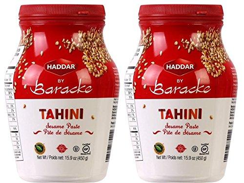 Haddar by Baracke 100% Pure Ground Sesame Tahini 15.9oz Jar (2 Pack)