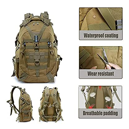 LHI Military Backpack35L 45L Laptop backpack Army Heavy Duty Molle Tactical Backpack Assault Rucksack for Men for Hiking… 4