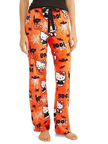 Hello Kitty Womens Halloween Minky Fleece Sleep Lounge Pajama Pants,Orange,3X (22W-24W)]()