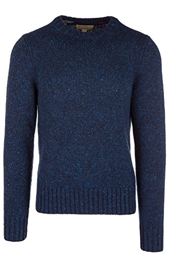 BURBERRY Men's Crew Neck Neckline Jumper Sweater Pullover Rossan Blu US Size M (US M) 40563271