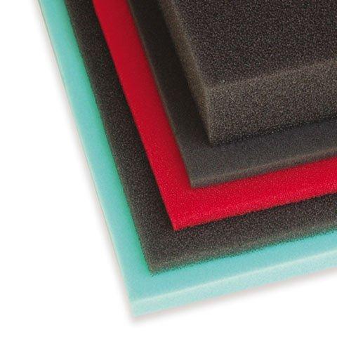 UNI FILTER Bulk Coarse Foam Filter (40 PPI) - 12in. x 16in.x 3/8in. - Red