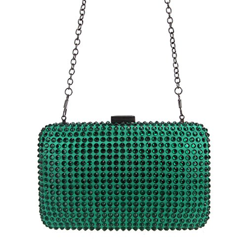 For Purses Bonjanvye Green Clutches Women Diamond Evening And Bags Luxury Clutch wUx4aIqg