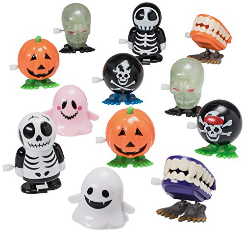 Prextex Halloween Goody Bag Wind Up Toys 12 Pack Halloween Toy Assortment Goody Bag -