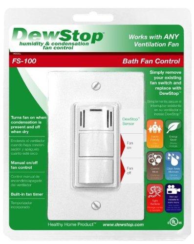 DewStop FS-100 Condensation Control Sentry Fan Switch, White