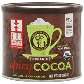 Equal Exchange Organic Spicy Hot Cocoa, 12-Ounce (Pack of 3) 42 Contains 3 bags, 12 oz per bag (36 oz) Vegan Spicy Hot Cocoa with Cinnamon & Cayenne Pepper for Cocoa with a kick Crafted Soy & Gluten Free