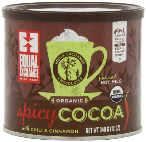 Equal Exchange Organic Spicy Hot Cocoa, 12-Ounce (Pack of 3) 1 Contains 3 bags, 12 oz per bag (36 oz) Vegan Spicy Hot Cocoa with Cinnamon & Cayenne Pepper for Cocoa with a kick Crafted Soy & Gluten Free