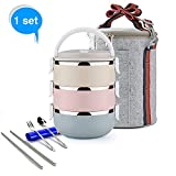 Best Thermal Lunch Boxes - Ieasycan 3 Layer Stainless Steel Thermos Bento Lunch Review