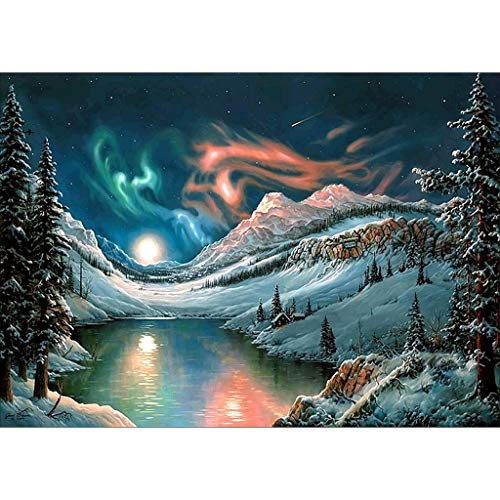 BeautyShe DIY 5D Diamond Painting by Number Kit for Adult, Full Drill Diamond Embroidery Kit Home Wall Decor-11.8 x 15 -
