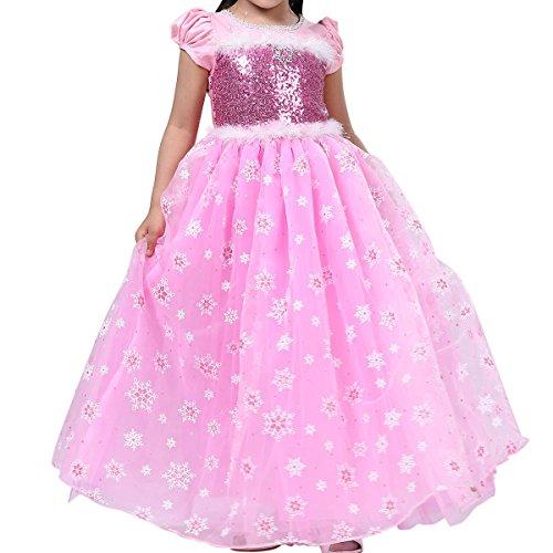 PamidaDress Girls' Princess Elsa Costumes Snow Queen Fancy