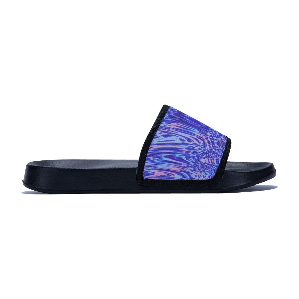 Fhdang Decor Purple Ripple Women and Men Bath Slipper Skid-Proof Home Slippers Beach Sandal