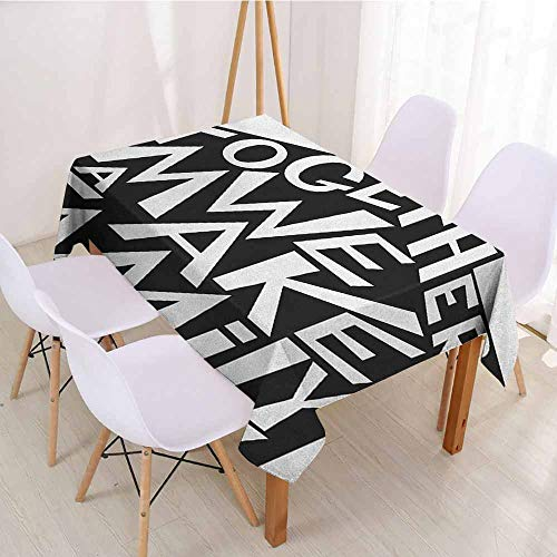 ScottDecor Wrinkle Free Tablecloths Printed Tablecloth W 54