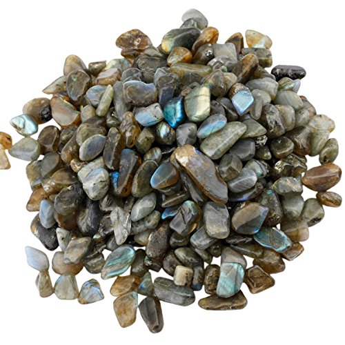 rockcloud 1 lb Labradorite Small Tumbled Chips Crushed Stone Healing Reiki Crystal Jewelry Making Home Decoration