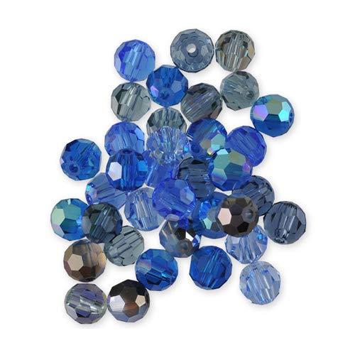Perline sfaccettate Swarovski 4 mm cammeo blu x 20
