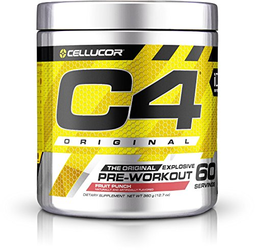 Cellucor C4 Original Pre Workout Powder Energy Drink w/ Creatine, Nitric Oxide & Beta Alanine, Fruit Punch, 60 Servings