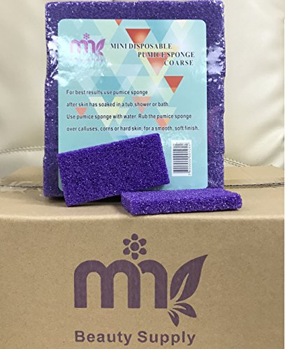 Nail Mini Pumice Disposable Buffing Pad for Feet 1600 pcs - Purple (1,600 pcs, Purple) by Mina