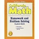 Houghton Mifflin California Math: Homework and Problem Solving Book, Grade 2