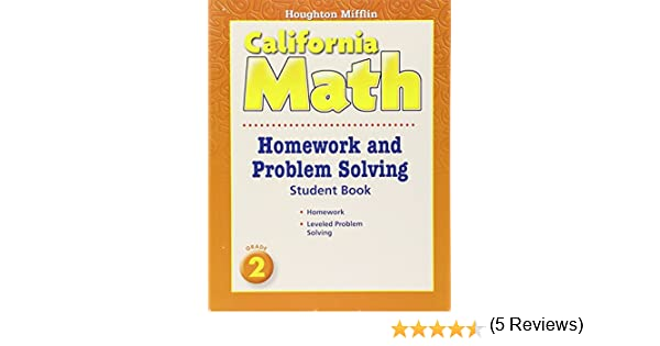 Math Worksheets houghton mifflin math worksheets grade 5 : Houghton Mifflin California Math: Homework and Problem Solving ...
