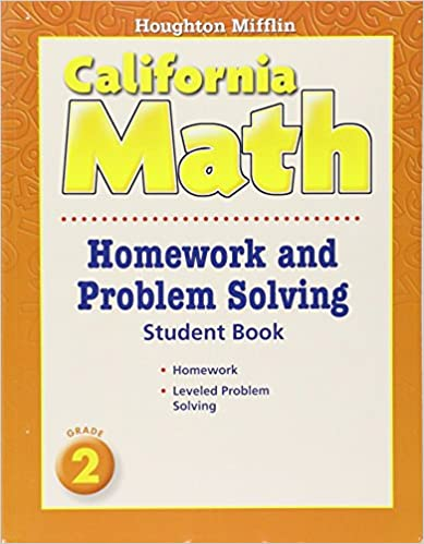 Houghton mifflin california math homework and problem solving book houghton mifflin california math homework and problem solving book grade 2 1st edition fandeluxe Gallery