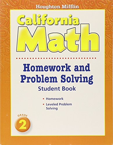Mathmatics Homework and Problem Solving Book Consumable Level 2: Houghton Mifflin Mathmatics California