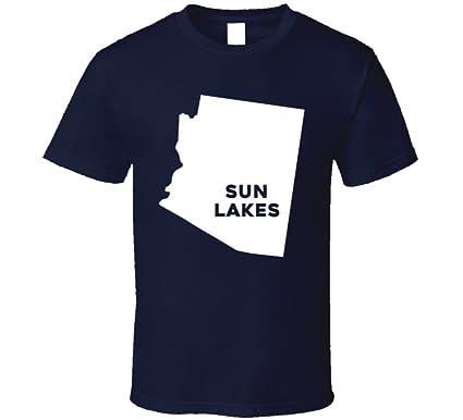 Amazon Com Sun Lakes Arizona City Map Usa Pride T Shirt Clothing