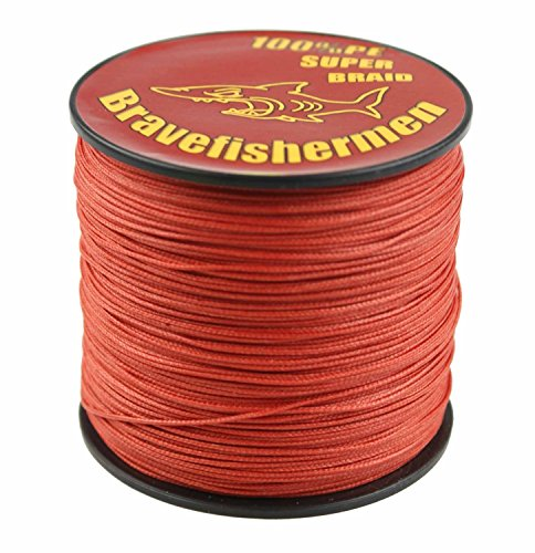 Bravefishermen Super Strong Pe Braided Fishing Line 10LB to 100LB Red