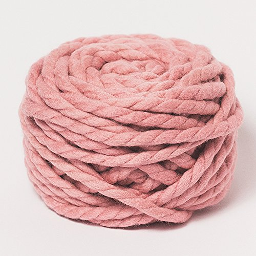 Chunky Merino Wool Yarn for Arm Knitting by Plump & Co (7.05 oz) Made in New Zealand, Premium Grade for Blankets, Throws, Rugs - 2 ply, Pink
