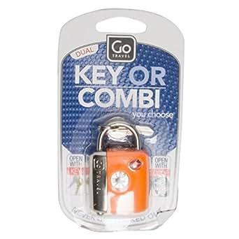 Go-Travel Dual Combi TSA Key Lock, Assorted, 337