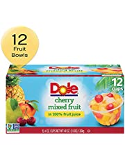 DOLE FRUIT BOWLS, Cherry Mixed Fruit in 100% Fruit Juice, 4 Ounce (12 Count (Pack of 1))