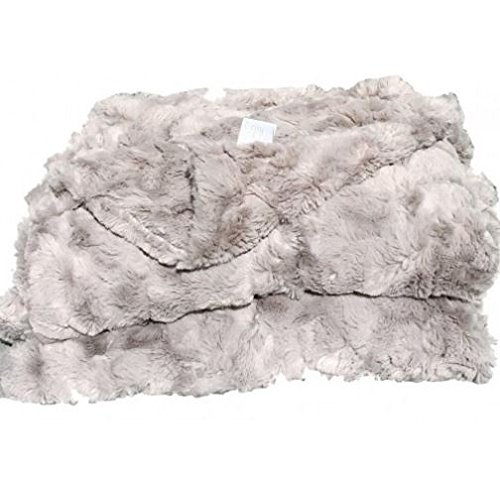 LuxuryスーパーソフトグレーLux FauxファーThrow Blanket | Bedspreads Home Furnishingライフスタイル B01AZ0BUR6