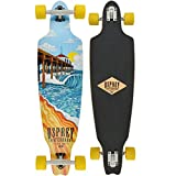 Osprey Phoenix Complete Twin Tip Longboard Skateboard, Brown, 41 x 9.5 Inches, 70 x 50 mm Wheels