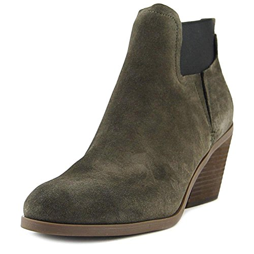 GUESS Womens Galeno Leather Closed Toe Ankle Fashion Boots, Gray, Size 9.5 by GUESS