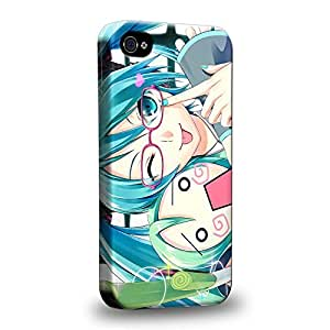 Case88 Premium Designs Vocaloid Miki Hatsune Miku 1168 Protective Snap-on Hard Back Case Cover for Apple iphone 5c