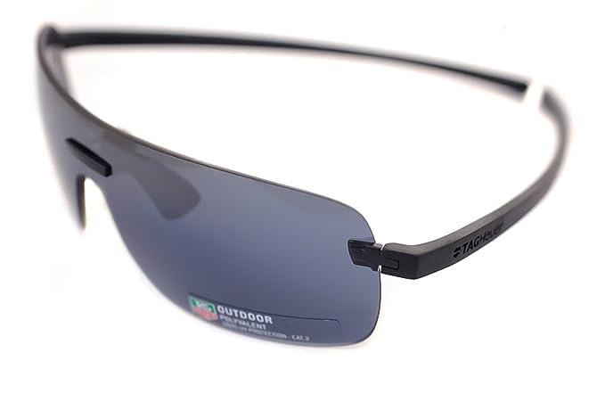91e0b1771 TAG HEUER RIMLESS REFLEX 3 TH3974 101 Mens Sport Sunglasses NOIR / BLACK /  GREY FLASH