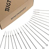 BIGTEDDY - 200pcs Assorted Disposable Sterile Tattoo Needles Kit Steel Round Liner Shader Varied Sizes Supplies