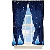 4pc Disney Cinderella Curtain Set Princess Night Sparkles Window Panels and Tie-Backs