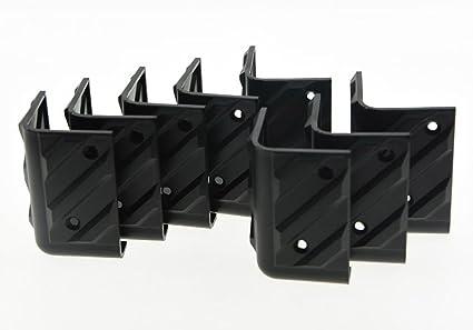 Kmise Black Hard Plastic Guitar Amp Amplifier Speaker Cabinet Corner Protectors S Pack of 20
