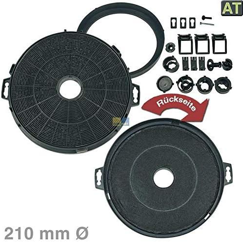 LUTH Premium Profi Parts Filtro de carbón Filtro de carbón Filtro Campana extractora Elica ?210mm 210mm con Adaptador: Amazon.es: Hogar