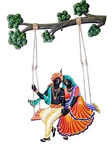 Karigaari Adivasi Ladies Iron Wall Hanging (54.2 cm x 40.79 cm x 5.51 cm, Set of 4)