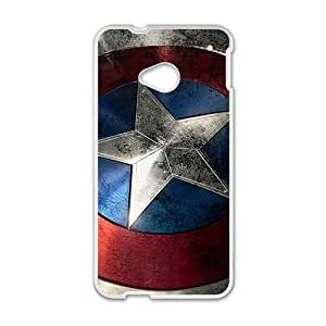 Captain America Design Hard Case Cover Protector For HTC M7