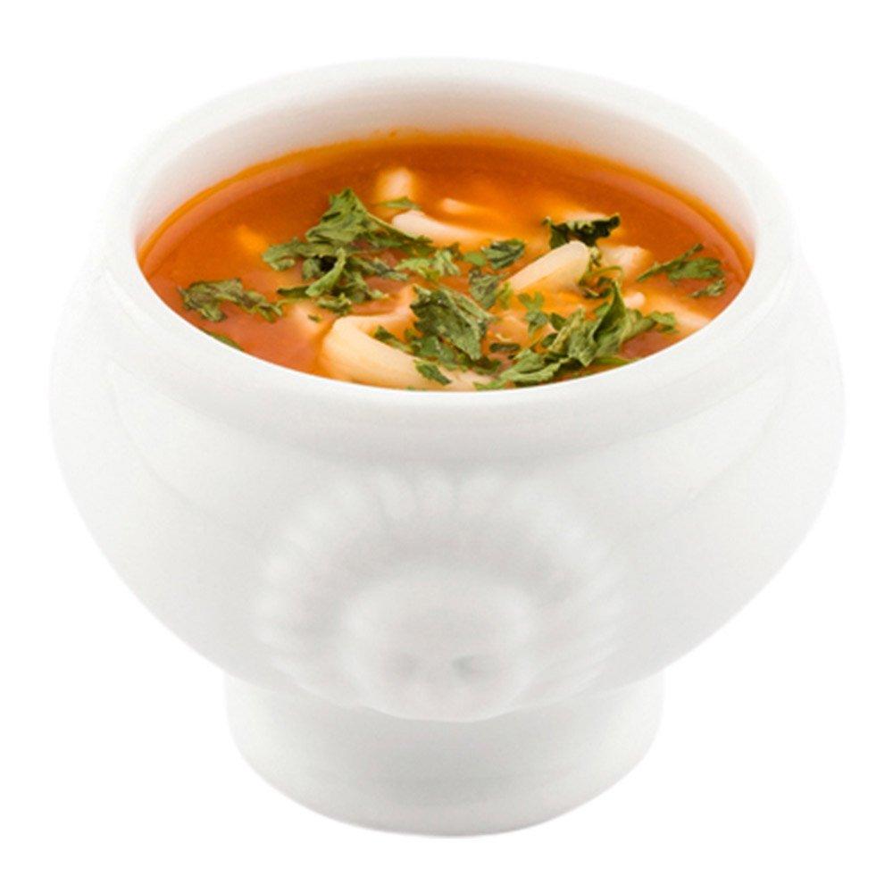 Porcelain Soup Bowl 10ct Box Porcelain Soup Cup Restaurantware 2.3 Ounce Lions Head Bowl