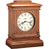 Seth Thomas Hotel Stained Natural Wood Case with Off-White Dial 20th Century Style Rectangular Chime Mantel Clock