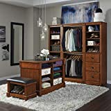 Aspen Rustic Cherry Closet/Storage System Organizer Wall Open Storage Unit By Home Styles