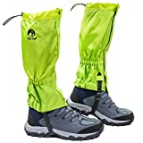 Pike Trail Leg Gaiters – Waterproof and Adjustable Snow Boot Gaiters for Hiking, Walking, Hunting, Mountain Climbing and Snowshoeing (Neon Green)
