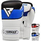 RDX Kids Boxing Gloves Maya Hide Leather 6oz Junior Punch Bag MMA Training Muay Thai Mitts